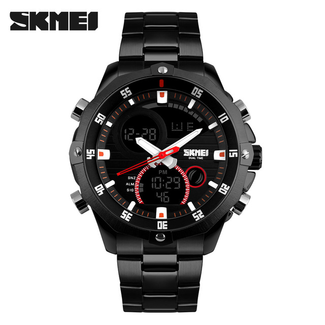 SKMEI 1146 Fashion Waterproof Watch Men Luxury Automatic Business Wristwatch Datejust Top Quality Military Clock Chronograph
