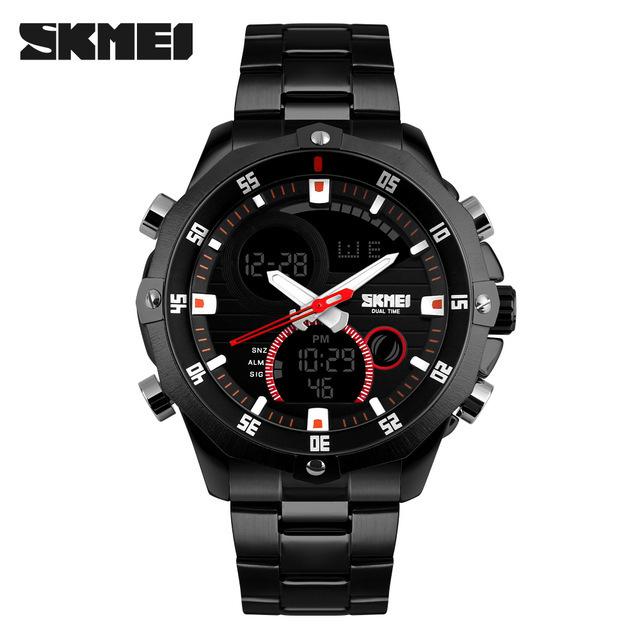 SKMEI 1146 Moda A Prueba de agua Hombres Reloj Automático de Lujo de Negocios Reloj Datejust Reloj Cronógrafo Militar de Calidad Superior