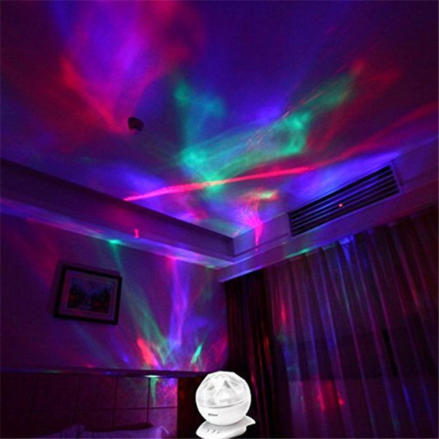 Awesome Color Changing Aurora Star Borealis Indoor Laser Projector LED Starry Sky  Night Light Lamp With Speaker