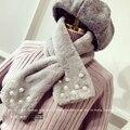 Novas Mulheres Casaco de Peles Lenços Rex Coelho Lenço Da Pele Do Falso Inverno gola Xale Mujer Mulheres Hat Decor Falso Cachecol de Pele de Coelho de Luxo 231