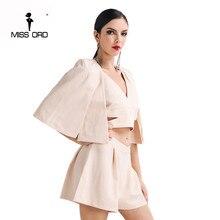 Missord 2017 Sexy v-образным вырезом три шт стили playsuit FT4619