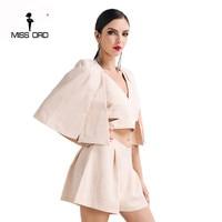 Free Shipping Missord 2016 Sexy V Neck Three Pcs Styles Playsuit FT4619