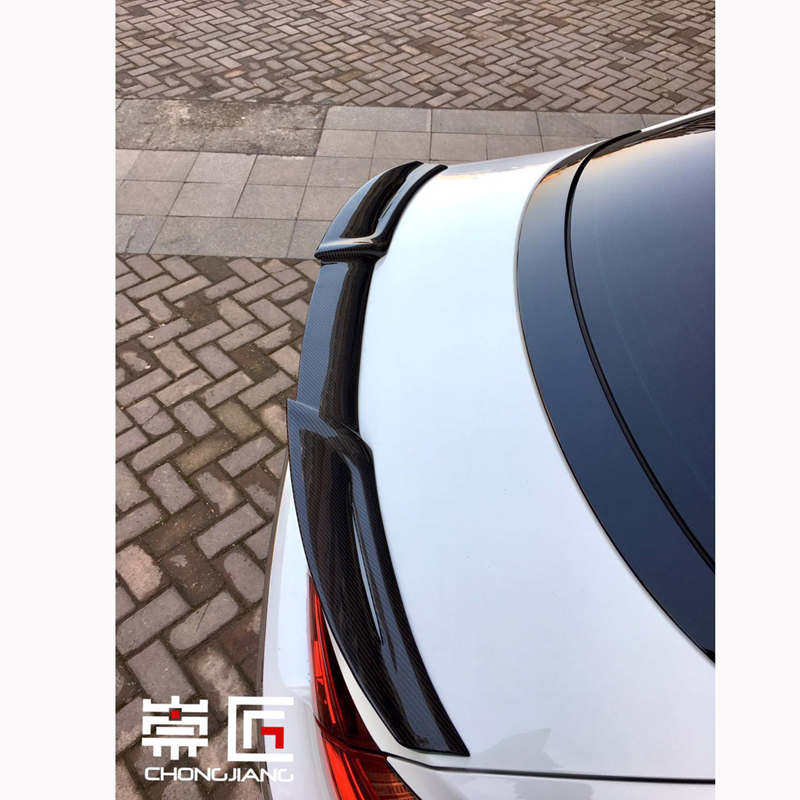 For Volkswagen VW CC 2010 2011 2012 2013 2014 2015 2016 Car Trunk Decoration Tail Wing Black Carbon Fiber Rear Wing Spoiler