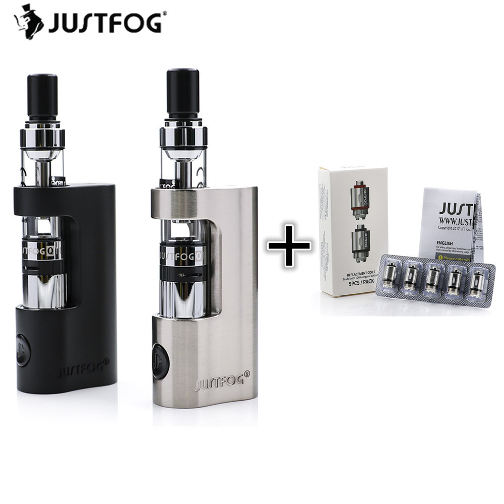 Original Justfog Q14 Kit with 1.8ml Clearomizer Tank Atomzier & 900mAh Battery Mod Electronic Cigarette Kit with justfog coils