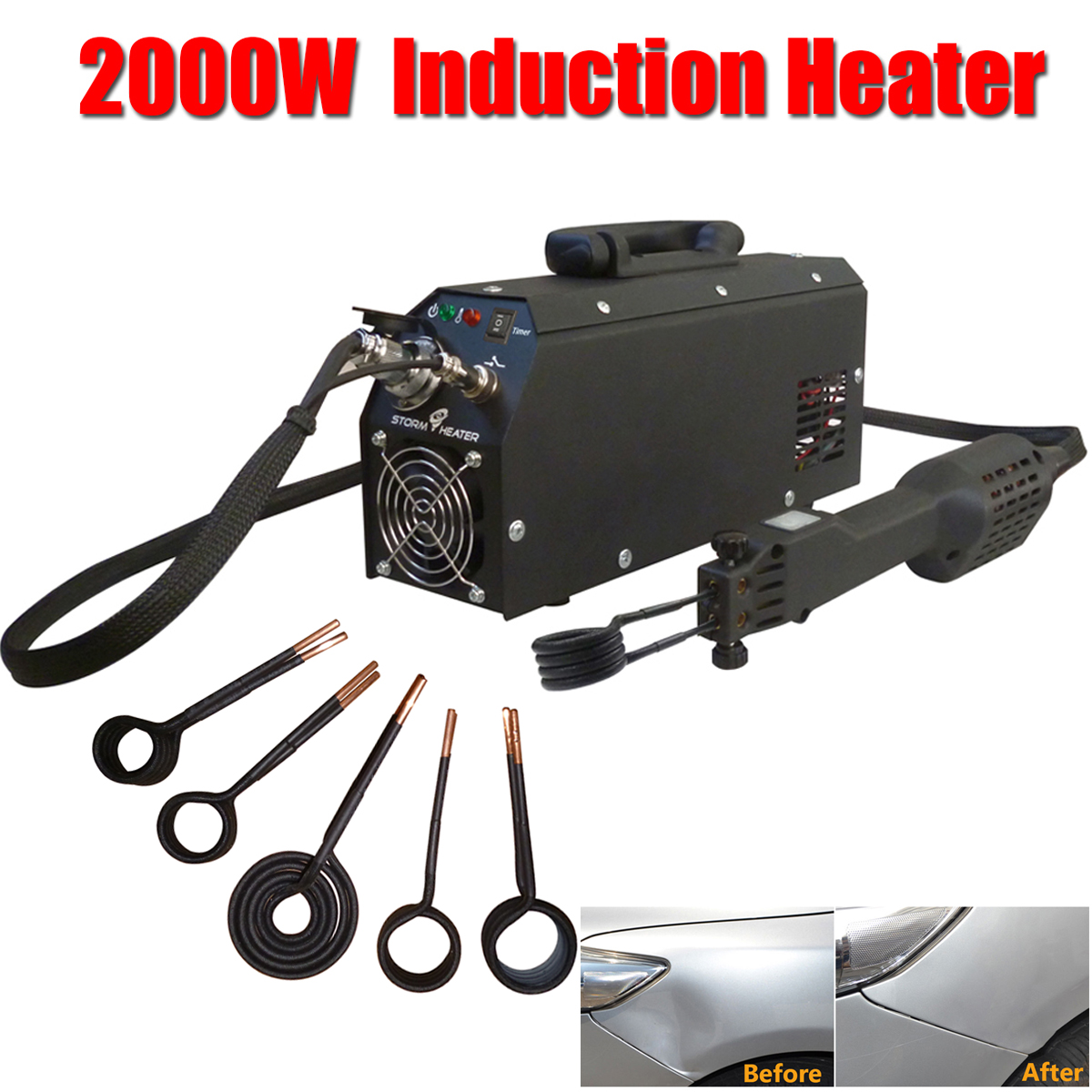 цена 110/220 V 2000W Car Induction Heater Repair Machines Tool Paintless Removing for Car Repair Removal of Dents Car Body Repair