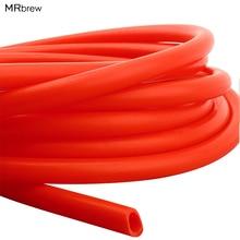 1 м красная Пищевая силиконовая трубка 8 мм ID 12 мм OD, высокая термостойкость домашний пивоваренный пивной шланг Труба трубы высшего качества