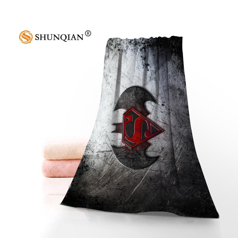 Custom Superman VS Batman 35x75cm 70x140cm Towels Facecloth Bath Towel Bamboo Fiber Wash ...