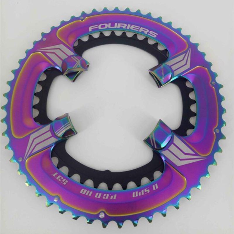 FOURIERS Road Bicycle Chainwheel Chainring 110BCD 50-34T/52-36T/53-39T Alloy for Road Bike 105(5800), UTG(6800),DA(9000) fouriers road chain ring cr e1 dx5800 110 bcd chainring chainwheel gear road bicycle chain ring