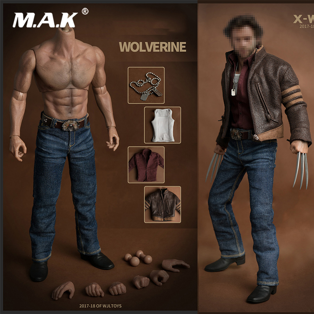 1/6 Scale Wolverine 3 Logan Clothes Accessory Suit With Muscle 31CM Wide Shoulder AT012 Body Model For 1:6 Head