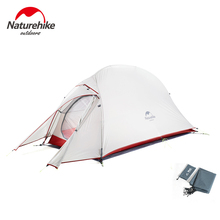 Naturehike Ultralight Tent 1 2 3 Person 20D Nylon Silicon Double Layer Waterproof Winter Camping Tent For Tourism Outdoor цена 2017