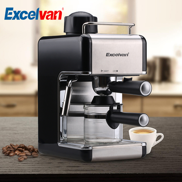 Excelvan 4 Cup 800w 3 5bar Mini Steam Espresso And Cuccino Coffee Maker Stainless Steel