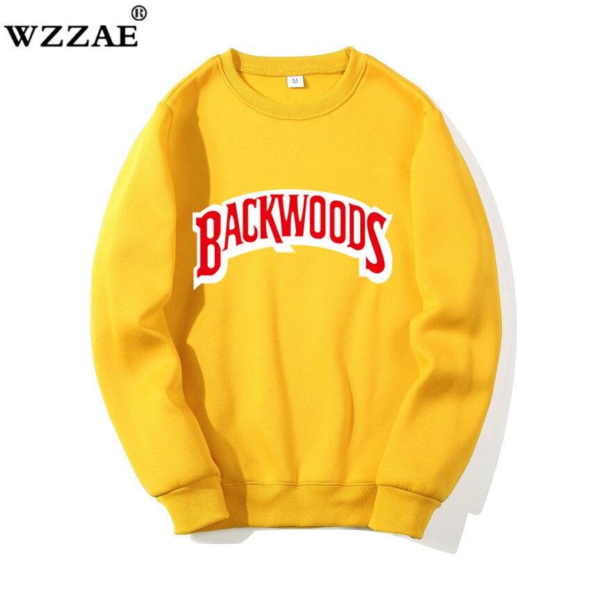 2019 New O-Neck Hoodies Streetwear Backwoods Hoodie Sweatshirt Men Fashion Autumn Winter Hip Hop Hoodie Pullover Sweatshirts