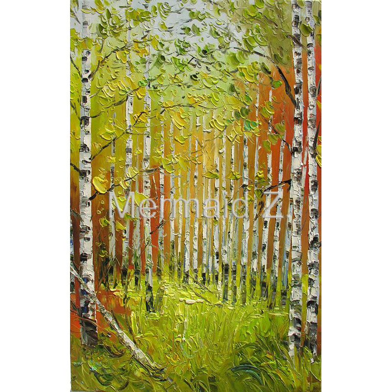 ORIGINAL Oil Painting Handmade wall Palette Knife Fall Colorful ...