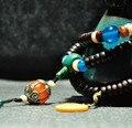 Tibetan Mala Tibetan Designer Mala Tibetan Rosesandalwood Rosary Beads Buddhist 108 Prayer Beads Turquoise Guru Bead