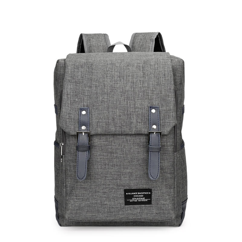14 Inch Canvas Backpack Unisex Tide Campus High School Student Schoolbag Large-Capacity Computer Backpacks