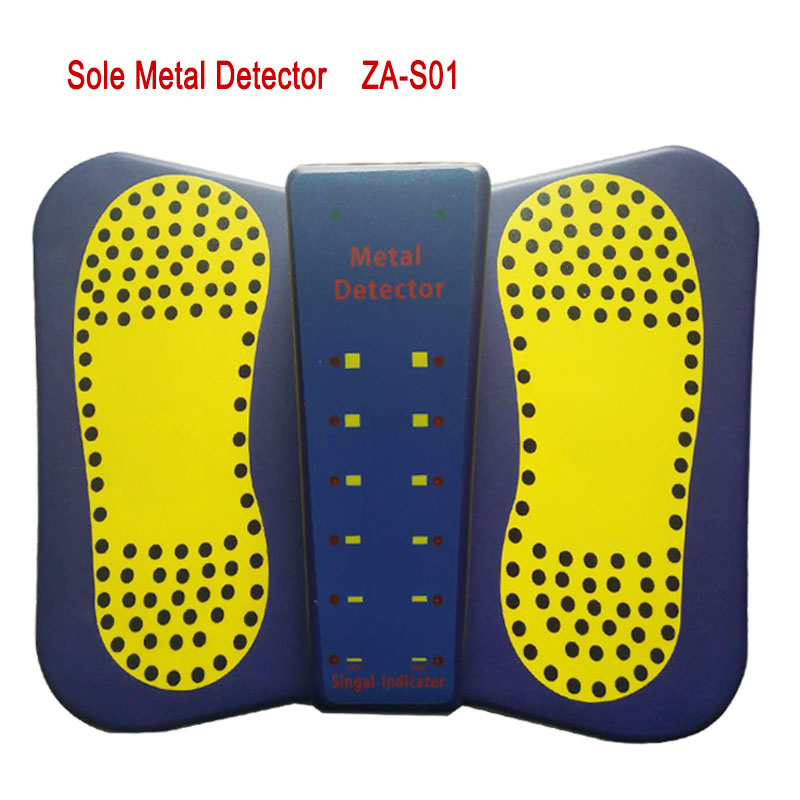 New Sound LED Alarm High Sensitivity Sole Metal Detector for foot Scanner Safety Checking