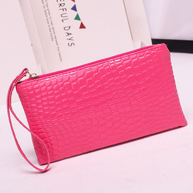 New Mini Day Clutches Women's Bag Korean Version Crocodile Pattern Clutch Bag Ladies Mobile Phone Bags Wallet PU Leather Handbag (17)
