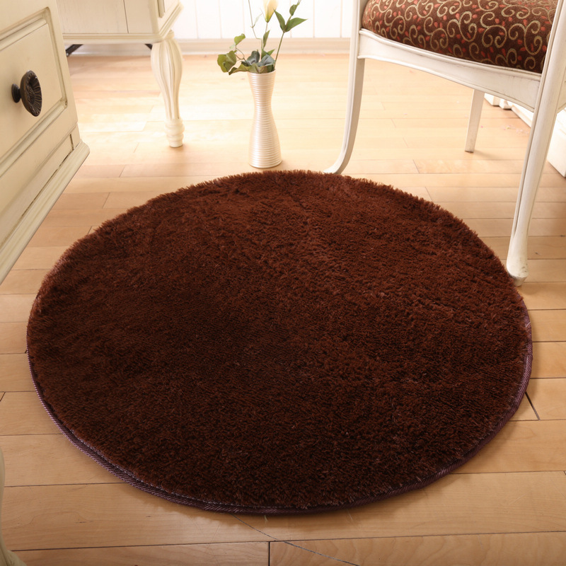 6-Size Solid Carpet Big Round Thicker Door Carpet Non-slip Water Absorption Area Rug For Bathroom Yoga Mat Kitchen alfombras