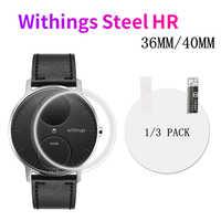1/3 Uds para Nokia Withings activte Steel HR 36MM 40MM Anti-shock 7H Nano Protector de pantalla Protector a prueba de explosiones película de reloj
