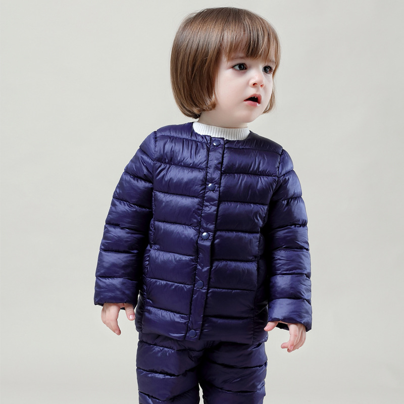 Winter Tracksuit 2 Colors Children Clothing Set Jacket Sport Suit Tops&Pants Kid Clothes for Boys Girls Outfits Coat Clothing autumn winter boys clothing sets kids jacket pants children sport suits boys clothes set kid sport suit toddler boy clothes