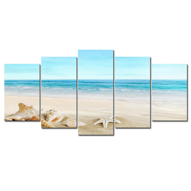 unstretched canvas print the sea beach pictures to photo paintings on canvas wall art no frame. Black Bedroom Furniture Sets. Home Design Ideas