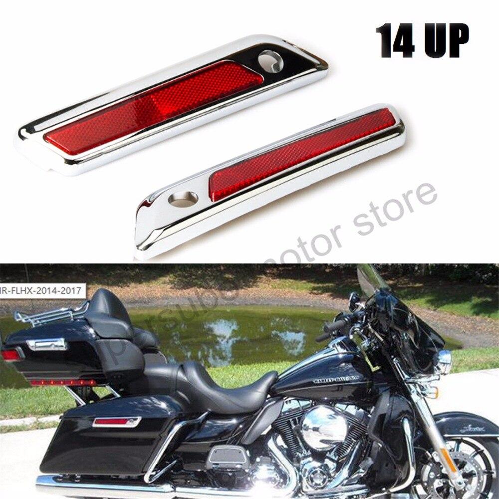 хромированный седло мешок петли защелка крышки для Harley гастроли улица скользить FLHT 2014-2017 Новый