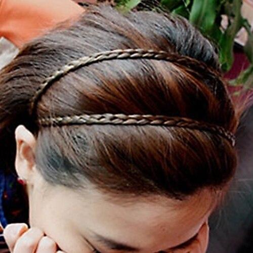Hot 4 Colors Braided Stretch Elastic Hair Band Headband Barrette Hair Sticker Hair Accessories 5BPU 7ECB
