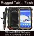 Оригинальный IP68 Водонепроницаемый LR wcdm V9 Tablet PC 7000 мАч MTK8382 quad core 3 Г 7.0 дюймов Android 4.4 прочный водонепроницаемый планшетный T70 T80