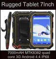Original IP68 Impermeable LR wcdm V9 Tablet PC 7000 mAH MTK8382 quad core 3G 7.0 pulgadas Android 4.4 tableta T80 T70 resistente a prueba de agua
