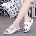 HKR 2017 летом женщины плоские сандалии Обувь Досуг тапочки скольжения на круглый носок удобные сандалии вьетнамки женские туфли 921