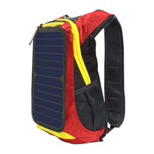Xinpuguang 6W 6V Red Backpack Solar Panel Battery Power Fabric USB Charger for Mobile Phone Outdoor Camping Travel Hiking