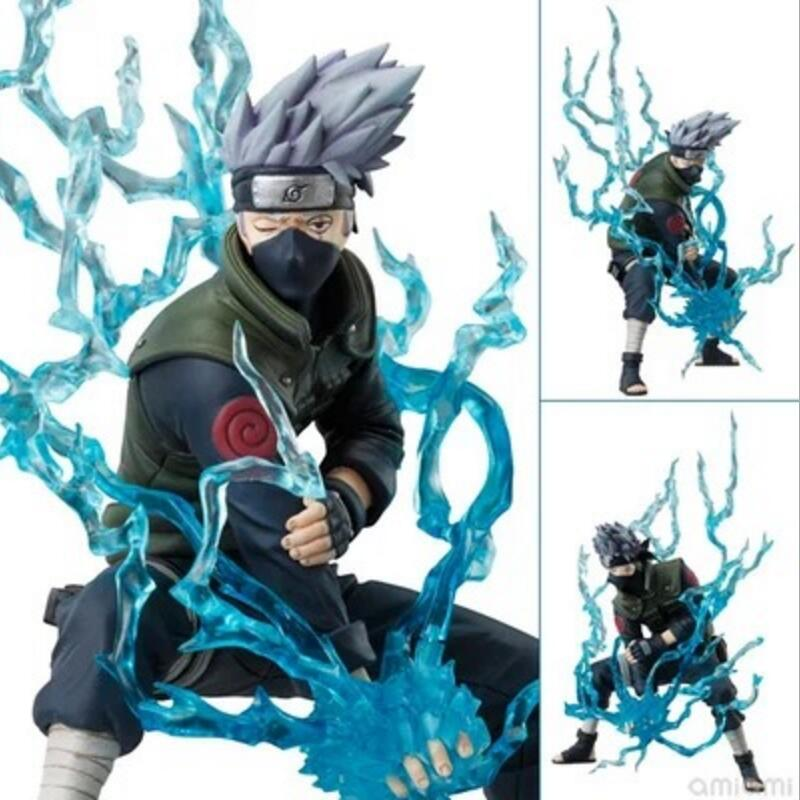 Original Box Anime Naruto Action Figures Lightning Blade Hatake Kakashi Figure PVC Model 12cm Collection Children Baby Kids Toys 21cm naruto hatake kakashi pvc action figure the dark kakashi toy naruto figure toys furnishing articles gifts x231