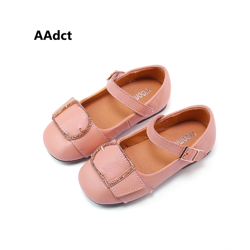 AAdct leather girls shoes 2018 new spring fashion little children shoes for girls casual toddler baby shoes Genuine leather