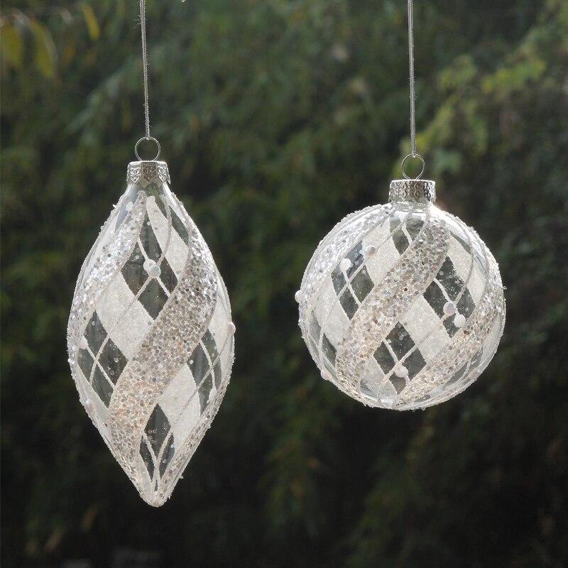 glass blown animal ornaments for christmas