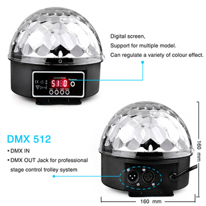 Image 2 - TRANSCTEGO 9 Kleuren 27 W Crystal Magic Ball Led Stage Lamp 21 modus Disco Laser Party Lichten Geluid Controle DMX Lumiere Laser
