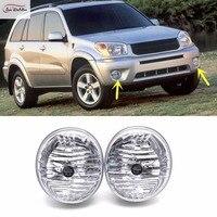 JanDeNing Car Fog Lights For 2004 2005 Toyota RAV4 Halogen bulb :9006 12V 55W Clear Front Fog Lamp Assembly kit (one Pair)
