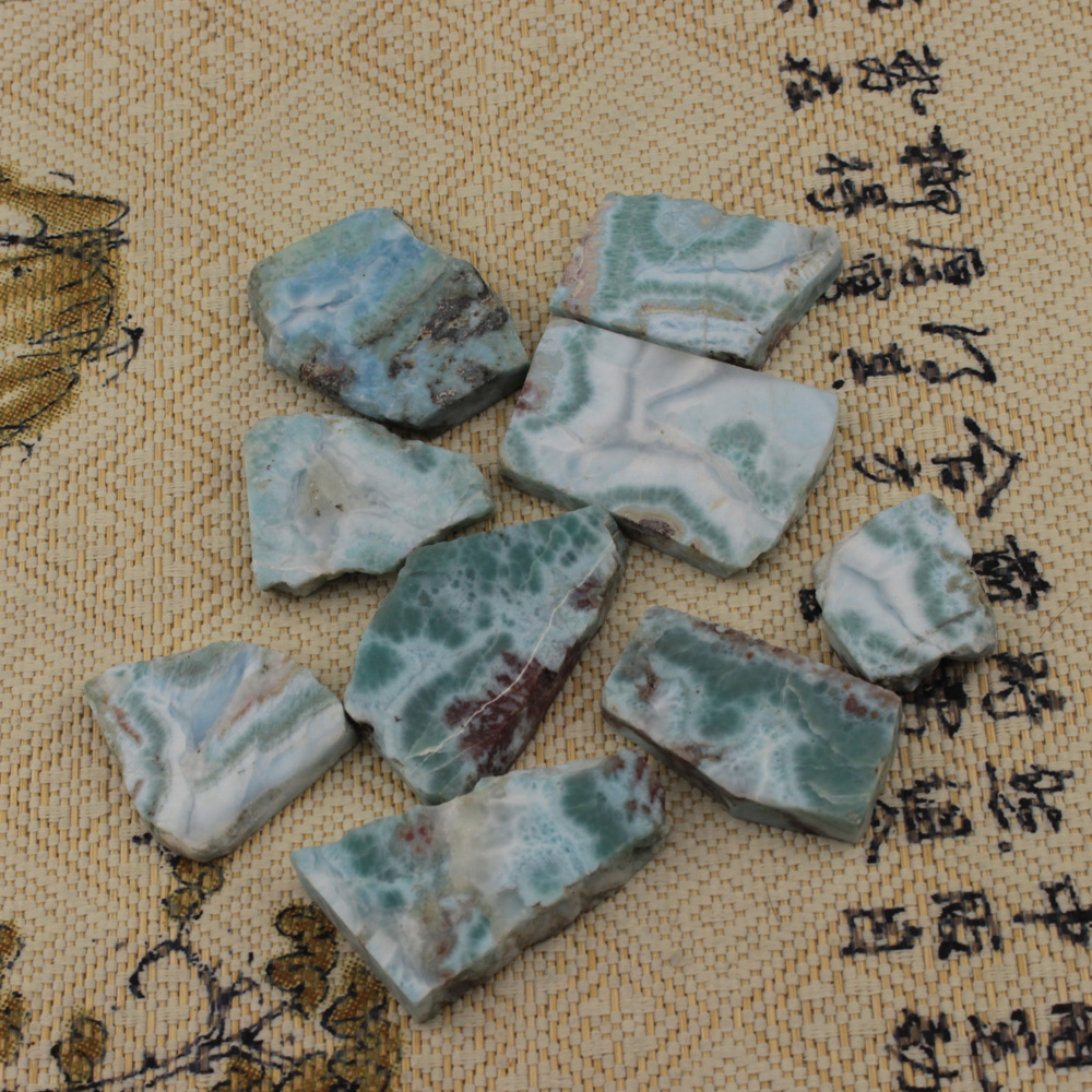 лучшая цена natural larimar/Copper Pectolite stone beads natural gemstone beads DIY loose beads for jewelry making one piece whoesale !