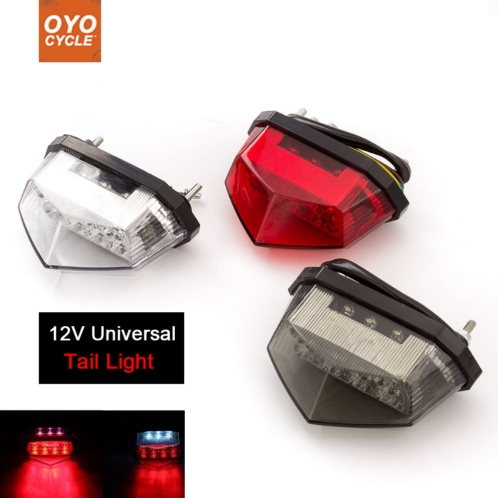 Motorcycle 12V Tail Light Motos Led Stop Signal Lamp Motorbike Light For Suzuki Dl650 Gn125 M109r Drz400 Gs 500 SV650 SV1000 600
