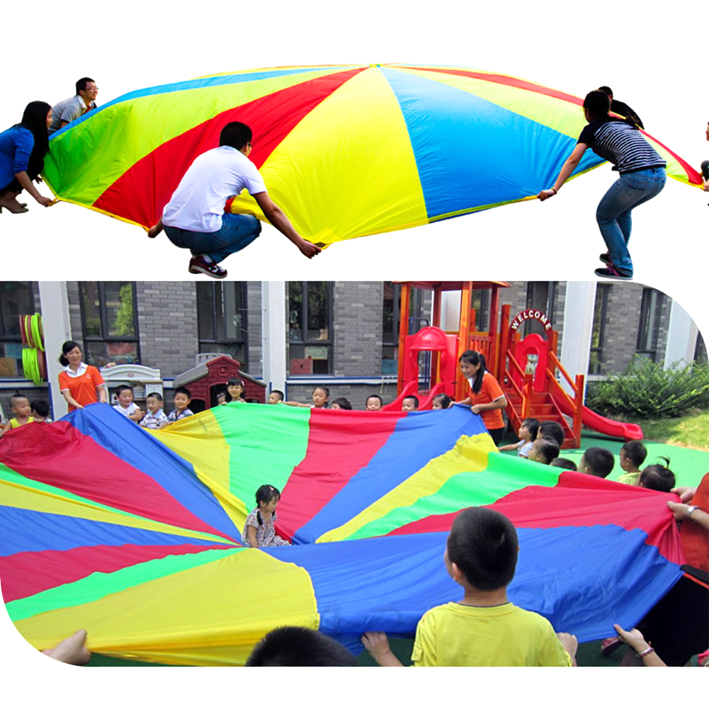 Diameter-2M-Kid-Outdoor-Sports-Toy-Rainbow-Umbrella-Parachute-Toys-for-Kids-Cooperation-Relations-Developing-Training-8-Bracelet-3