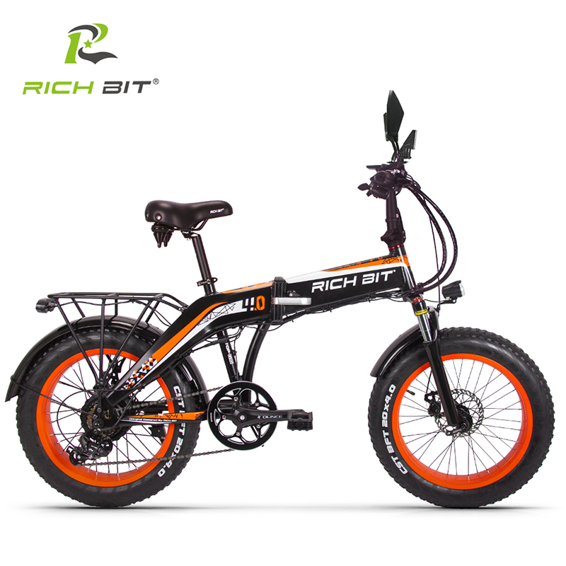 RICHBIT 500W 48V 20 inch Fat Tire ebike Electric Bike Folding Snow Electric Bicycle Front Fork