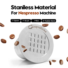 2nd Generation Stainless Steel Metal Refillable Reusable Capsule For Nespresso Machine Refillable Capsulone Free Shipping