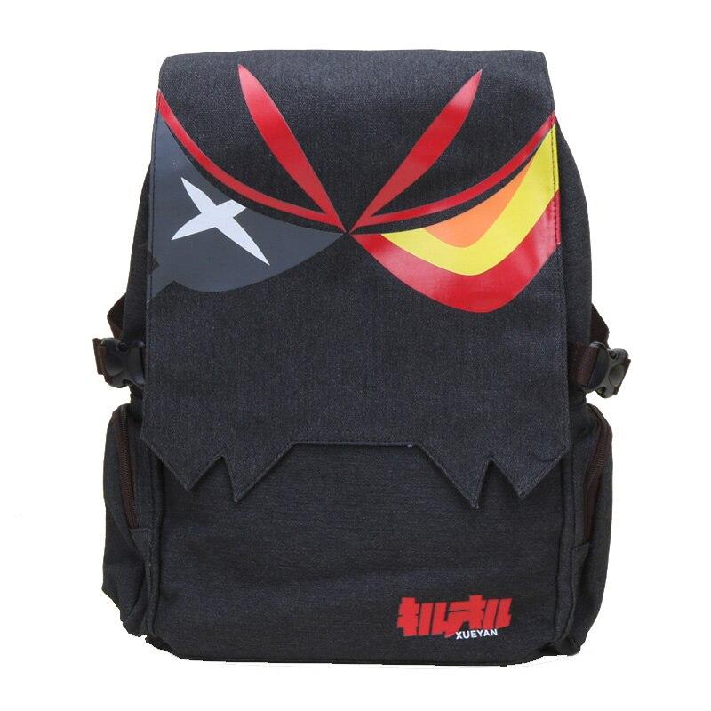 Anime Kill La Kill Backpack Matoi Ryuko Unisex Canvas Big Capacity Backpacks School Travel Shoulder Bag Mochila Escolar