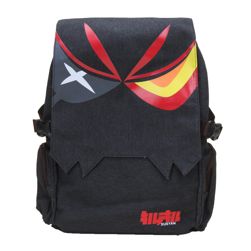 Anime Kill La Kill Backpack Matoi Ryuko <font><b>Unisex</b></font> <font><b>Canvas</b></font> Big Capacity Backpacks School Travel Shoulder <font><b>Bag</b></font> <font><b>Mochila</b></font> <font><b>Escolar</b></font> image