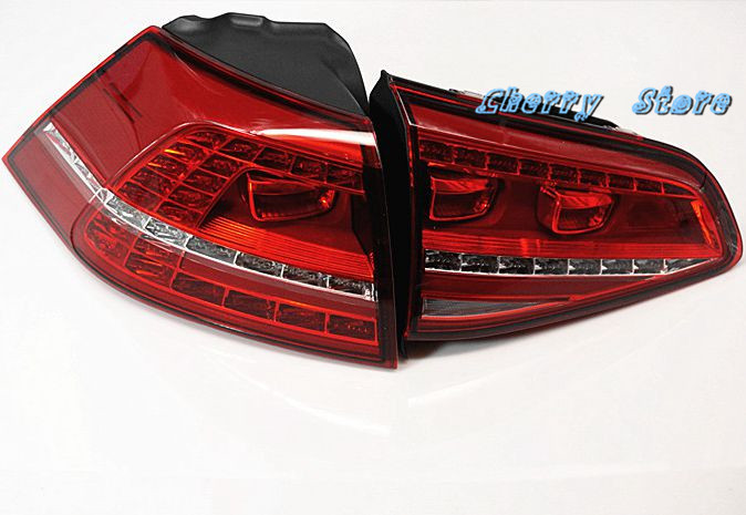 NEW 5G0 945 207 & 5G0 945 307 Rear Left LED Taillights Tail Light Assembly For Volkswagen VW Golf GTI GTD MK7 5G0945207/307 new high quality 1 piece led dark red tail lamp tail light right fit for vw golf gti r mk7 2013 2016 5g0 945 208 5g0945208