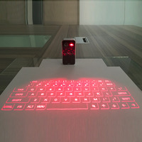 Portable Bluetooth 3.0 Wireless Virtual Laser Keyboard Mini Bluetooth Projection Keyboard for Windows For Mobile Phones