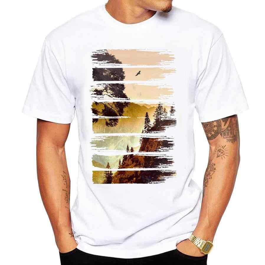 2018 Uomini Perso nel Wilds Stampa Tees Camicia T Shirt a manica Camicetta Fitness O-collo Modale Moda Causali T-Shirt estate