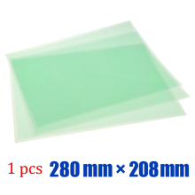 10 sheets Heat resistance green pet tape 280mm*208mm with release liner for 3D printer