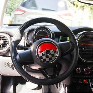 Image 4 - Union Jack Steering Wheel Center Sticker Decals Decoration for BMW MINI Cooper JCW F55 F56 Interior Car Styling Accessories