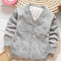 Горячая продажа Весна Осень baby boy девушка Кардиган дети новые конфеты цвета свитер куртка однобортный свитер ребенка девушка наряд