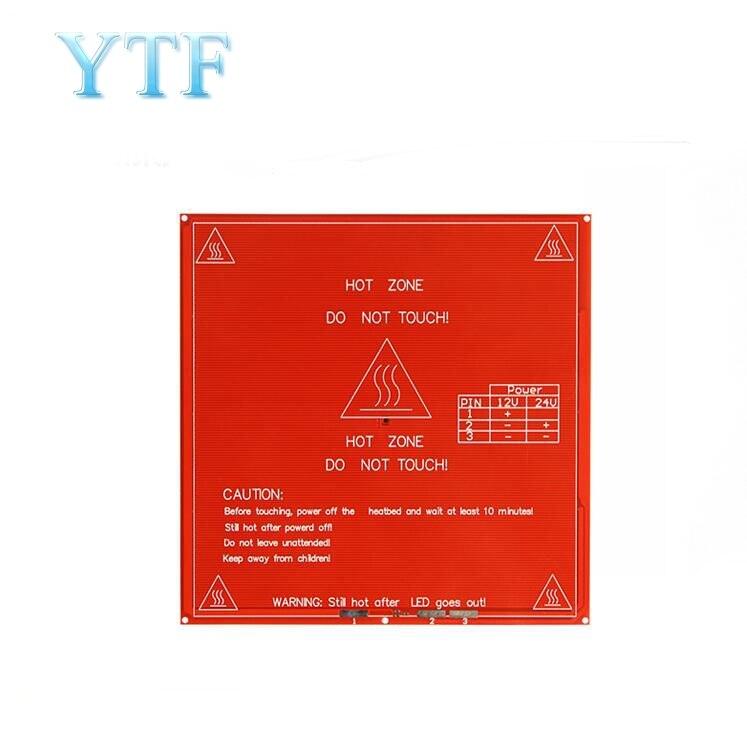 3D Printer Parts PCB Hot Bed Mk2b 214x214mm Dual Power Supply Heating Platform